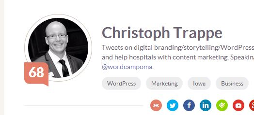 christoph trappe klout score at 68
