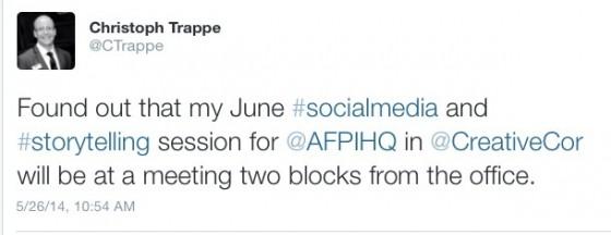 AFP SOCIAL MEDIA TWEET
