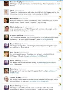 Authentic Storytelling Twitter Feedback