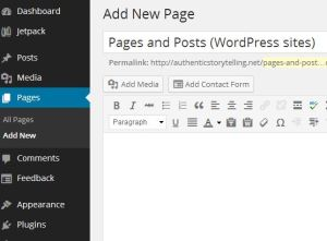 pages and posts in WordPress
