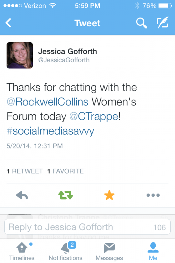 Rockwell Collins social media presentation