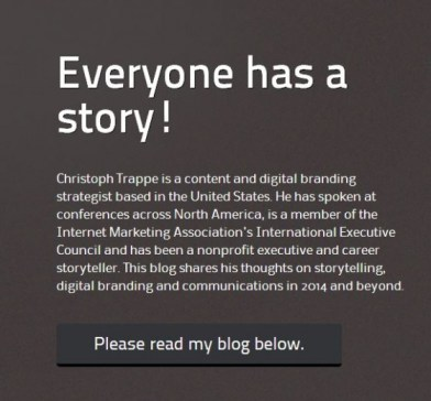 Call to Action on The Authentic Storytelling Project