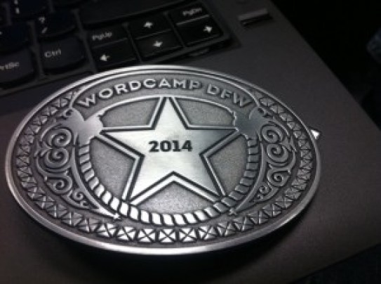 WordCamp DFW belt buckle