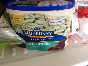 Family support helps with diet - I don't like mint ice cream