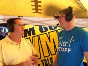 volunteering keeps us fit - downtown Cedar Rapids farmers market