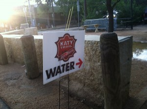 Katy Trail water station