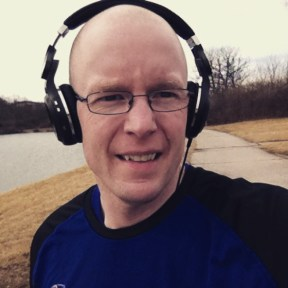 Running at Ramona Lake Park in St. Louis near the airport