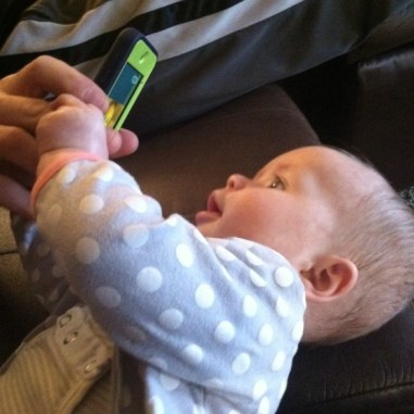 baby talking on skype