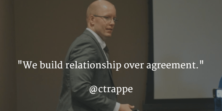 We build relationships over agreement