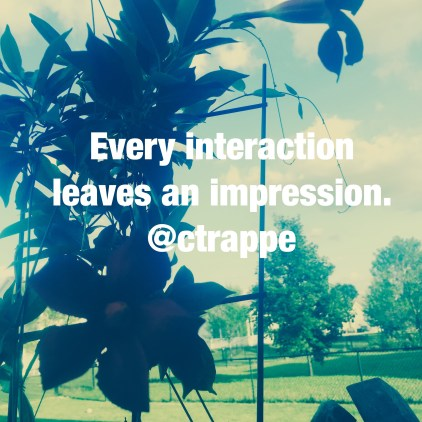 Every interaction leaves an impression – even the ones you don't remember