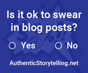 Is it okay to swear in blog posts?