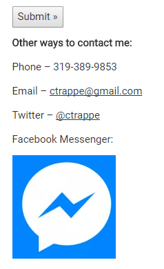 Facebook Messenger Integration on Contact Us Page