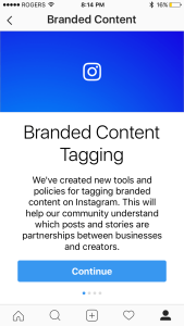 Branded content on Instagram
