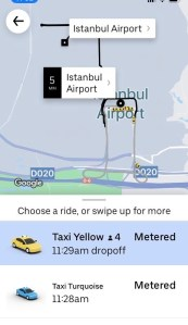 Uber rides in Istanbul