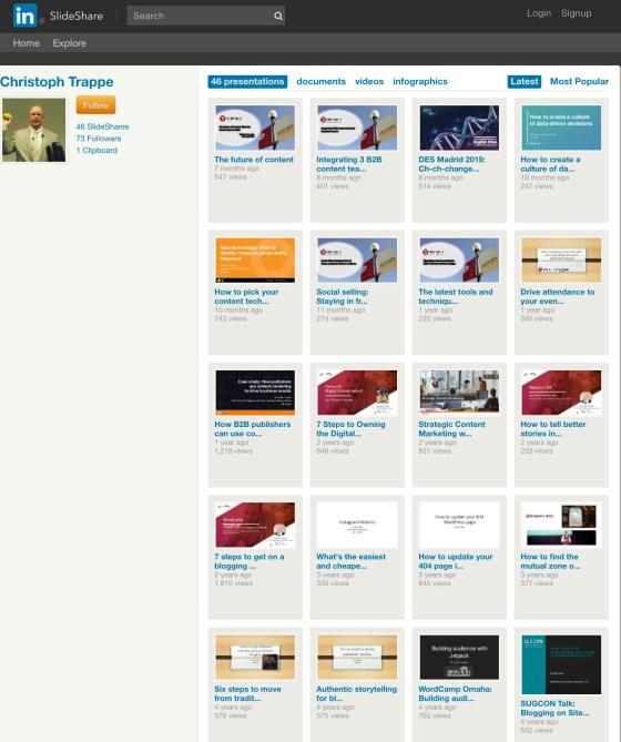 Slideshare to share brand stories