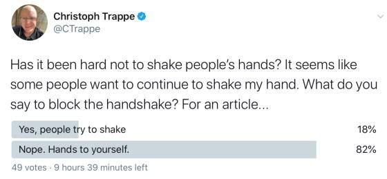 Twitter Poll on Handshakes