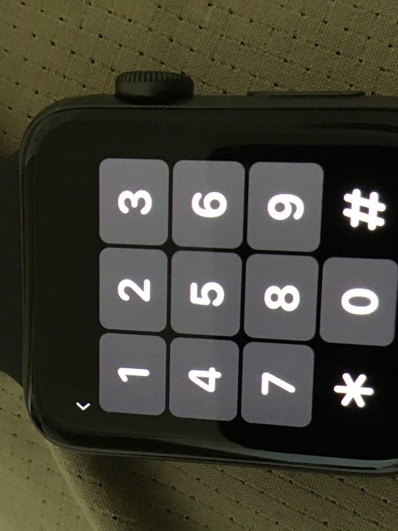 Apple Watch keypad