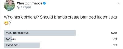 Twitter poll branded face masks