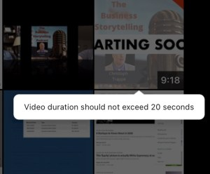 LinkedIn Stories can be 20 seconds