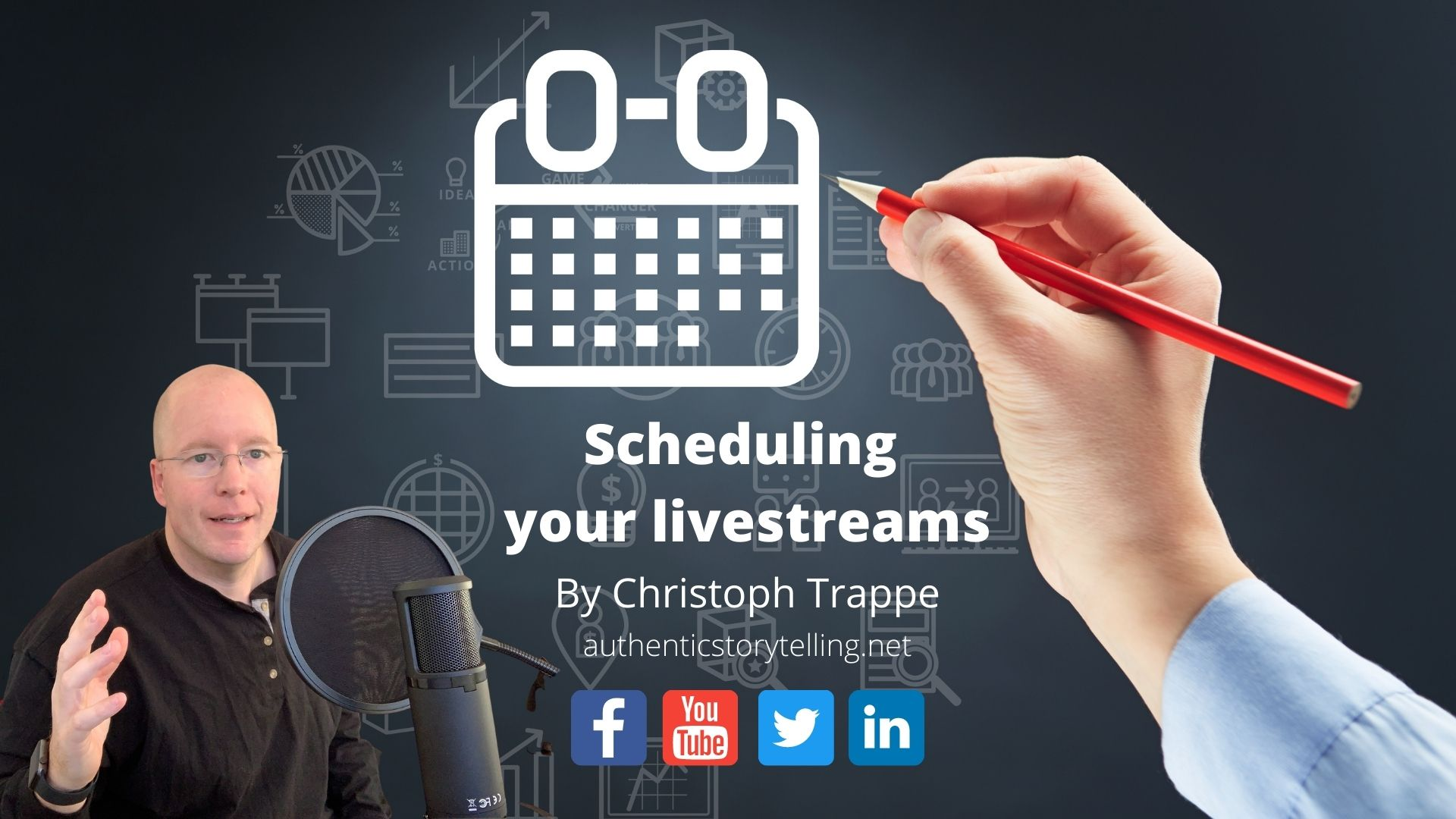 How to schedule livestreams to Facebook, YouTube, Twitter and LinkedIn - Content + Digital Marketing Tips
