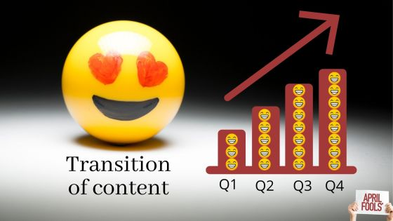 Transition of content