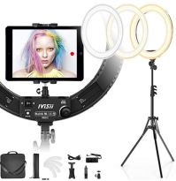 ring light as web cam tripod