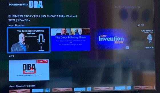 On-demand TV shows on Roku
