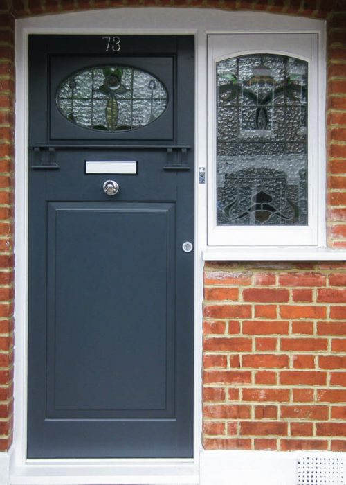 English Style Timber Door with Letterbox