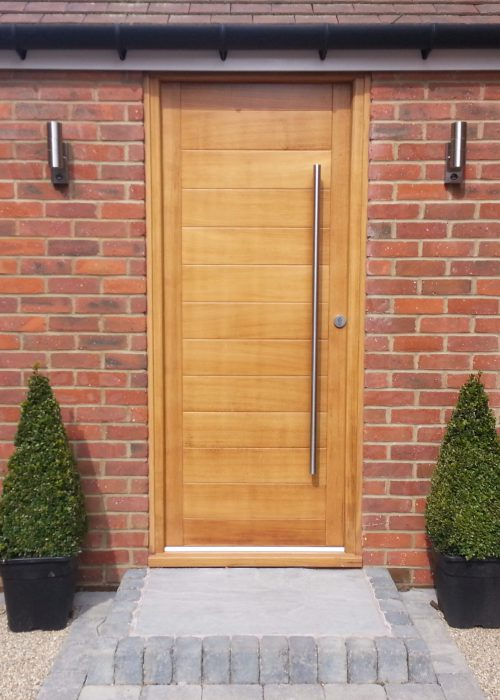 Modern Timber Door Plymouth
