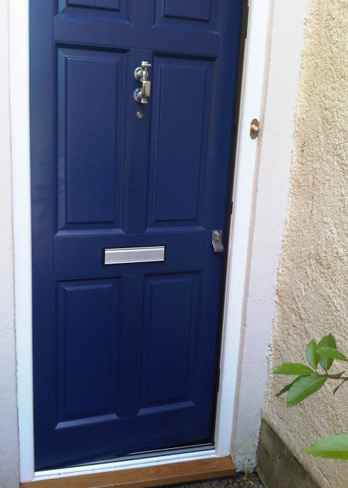 Hastings Blue Oil Coated Door