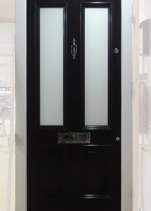 Black Timber Hardwood Door Sapele