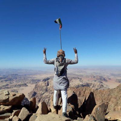 hiking in jordan with rum guide