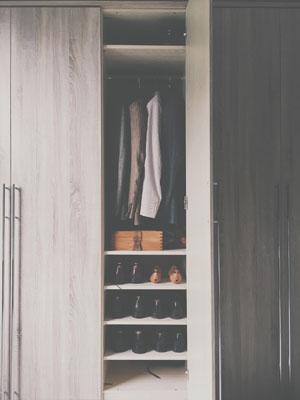 Custom wood closet organizer systems