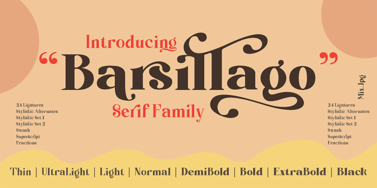 Preview image of Barsillago 8 Font