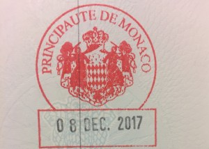 Offical stamping from Monaco