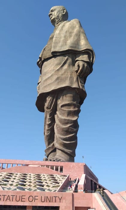 Sardar Patel world tallest statue in Gujarat