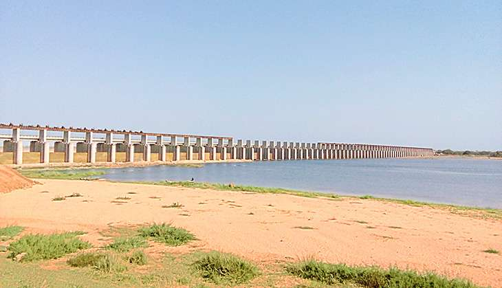 Dam across teh Mahanadi River in Chhattisgarh