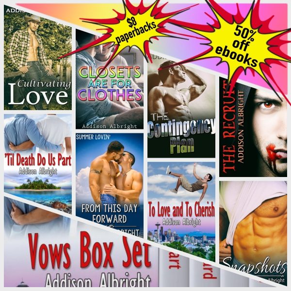 collage with rainbow - JMS - All Books - 50% off ebooks & $8 paperbacks