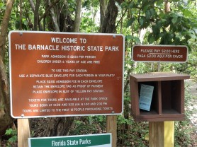Barnacle park sign
