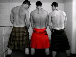 kilts in bathroom