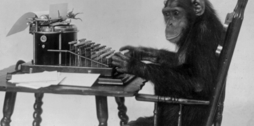 Monkey at a typewriter