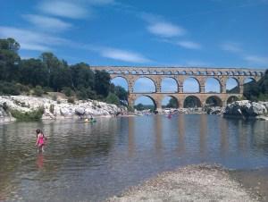 Laura at the Pont du Gard