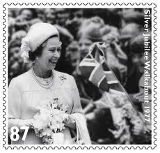 postage stamp from Queen's Silver Jubilee, 1977