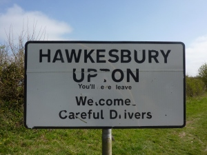 Village sign at Hawkesbury Upton