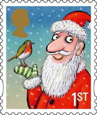 Axel Scheffler's 1st Class Christmas stamp for Royal Mail 2012
