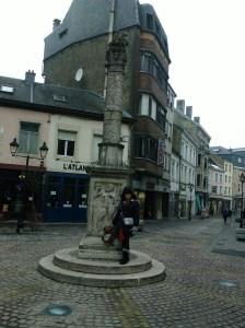 Roman column in Mons, Belgium
