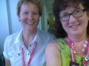 Selfie of Debbie Young with Alison Morton