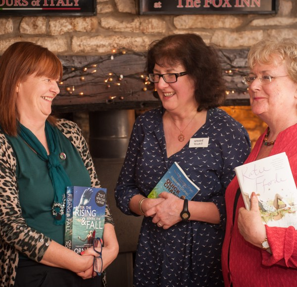 Orna Ross, Debbie Young and Katie Fforde
