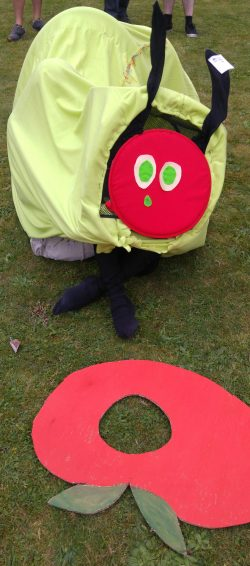 Photo of a Very Hungry Caterpillar costume