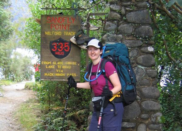 Belinda on the mountain path